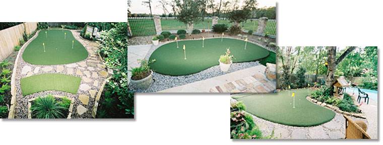 Backyard Golf, Kingwood Texas offers custom putting green installation in and around Houston, Texas